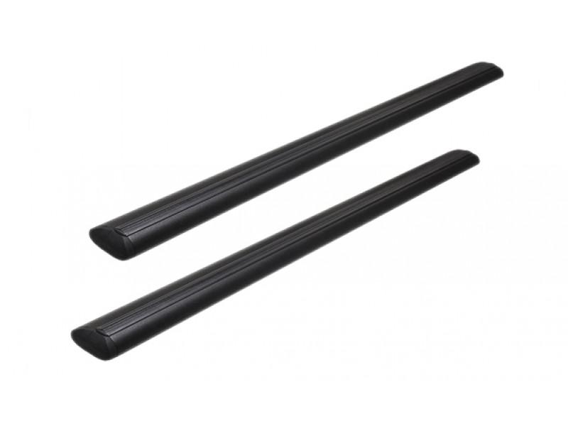 Алюминиевая дуга Atlant Black, черный крыловидный профиль (текстура шагрень), комплект 2 шт. 6031