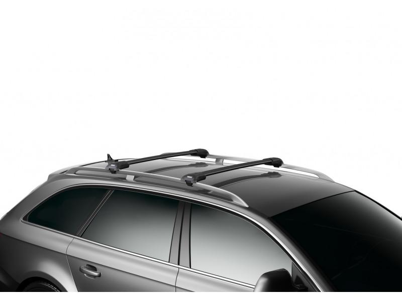 Багажник THULE WingBar Edge черного цвета (на рейлинги) Длина дуг M+L 958520 9585B